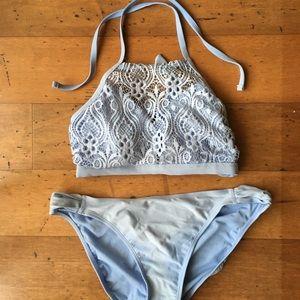 Gorgeous sky blue bikini